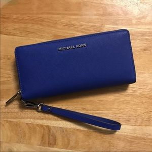 👑 Michael Kors Wallet - Electric Blue